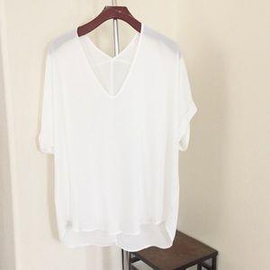 Lush Oversized White Top